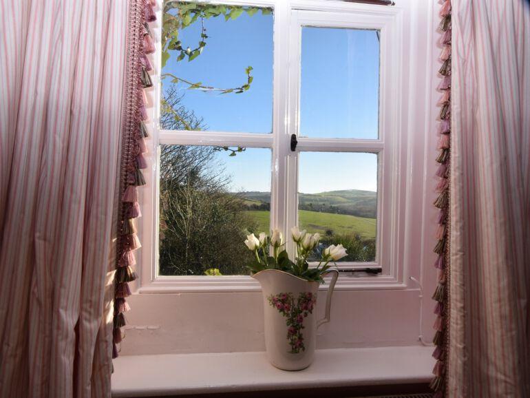 Honeymoon cottage bedroom view